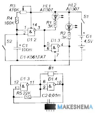 На рисунке 3 схема реле