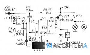 Схема двух таймеров для автомобиля ВАЗ-21213