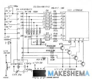 Схема автомобильных часов на микросхеме