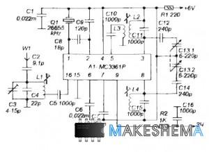 Схема приемника на 27 МГц с плавной настройкой