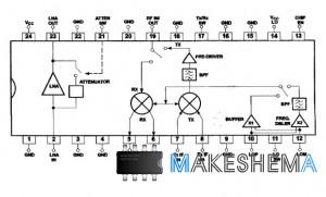 Микросхема SA2420 - RF Трансивер