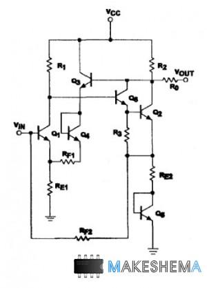 Микросхема SA5204, SA5205 - Широкополосные усилители