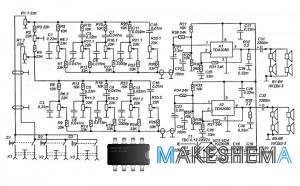 Схема Hi-Fi стереоусилителя с эквалайзером