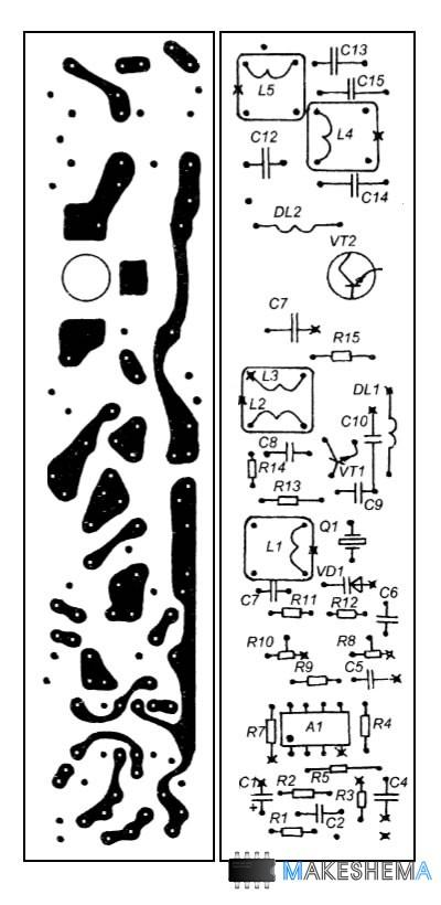 Схема ЧМ-Радиостанции на СВ-