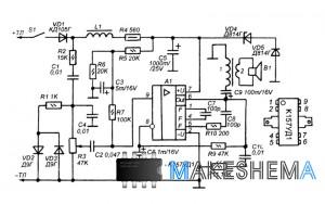 Обычно эта задача решается с помощью стационарного усилителя мощности звуковой частоты или магнитофона...