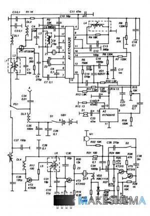Схема Портативной радиостанции 27 МГц.