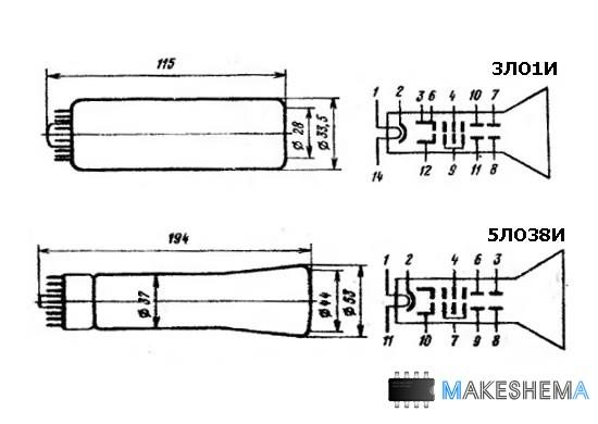 Осциллограф своими руками на трубке 5ло38и 171