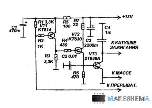 Простая схема транзисторного