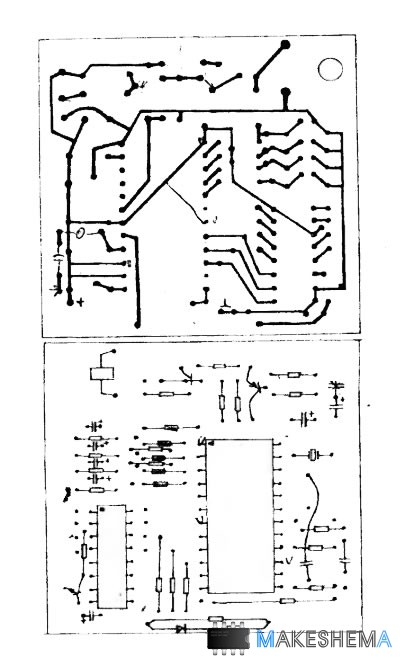 Схема модуля дистанционного