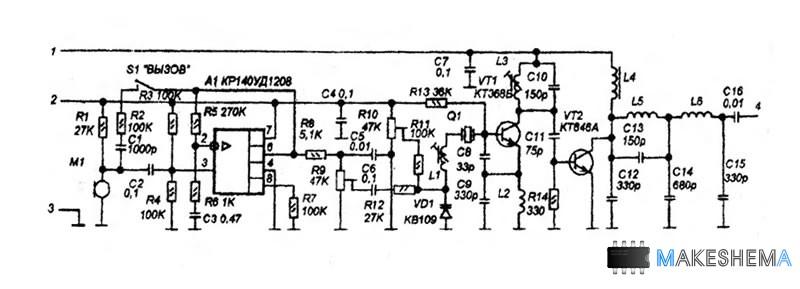 Схема СВ-радиостанции на