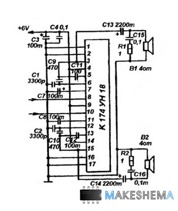 Схема стереотюнера УКВ ЧМ