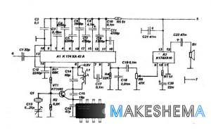 Имеет кварцевую стабилизацию частот приемника и передатчика.  Применение современной микросхемы К174ХА42...