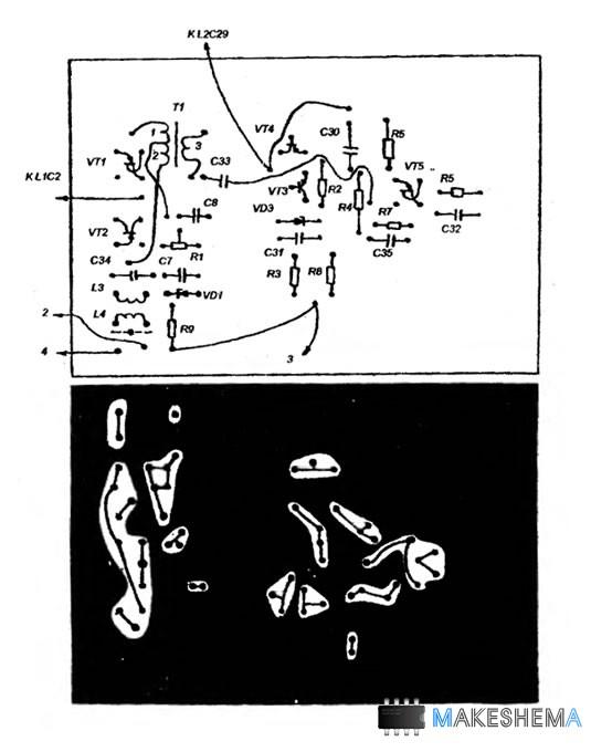Схема всеволнового КВ