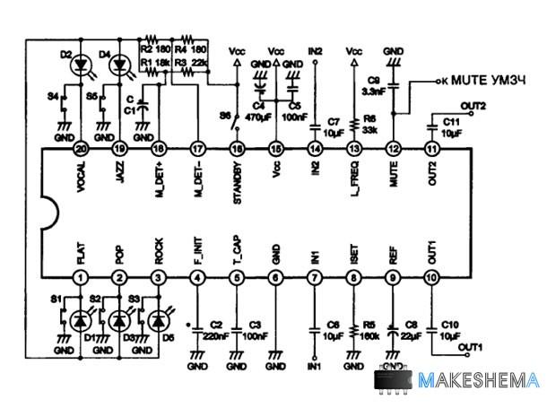 Микросхема CXA1352AS фирмы