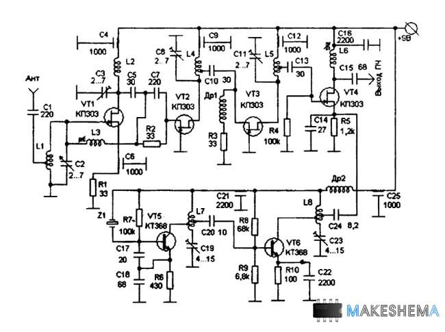 Конвертер на диапазон 145 МГц