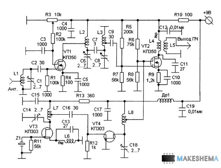 имеющим диапазон 28—30 МГц