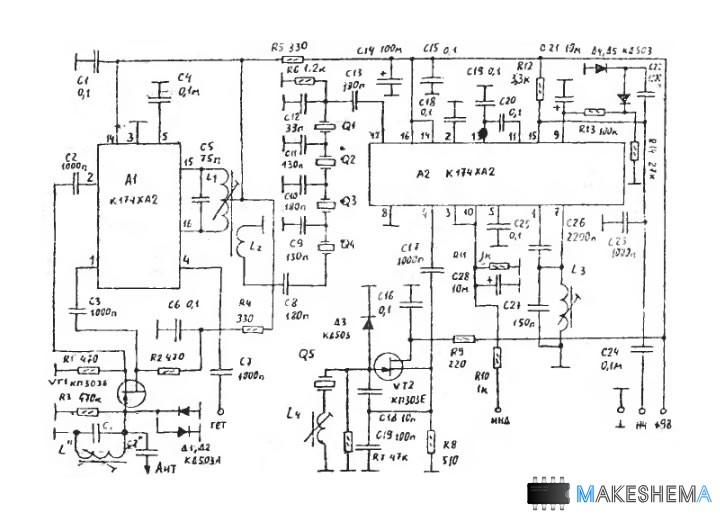 Схема приемник к174ха2