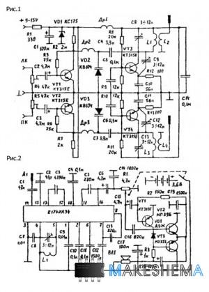 Схема беспроводных наушников