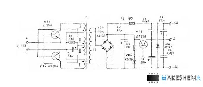 Схема вольтметра для