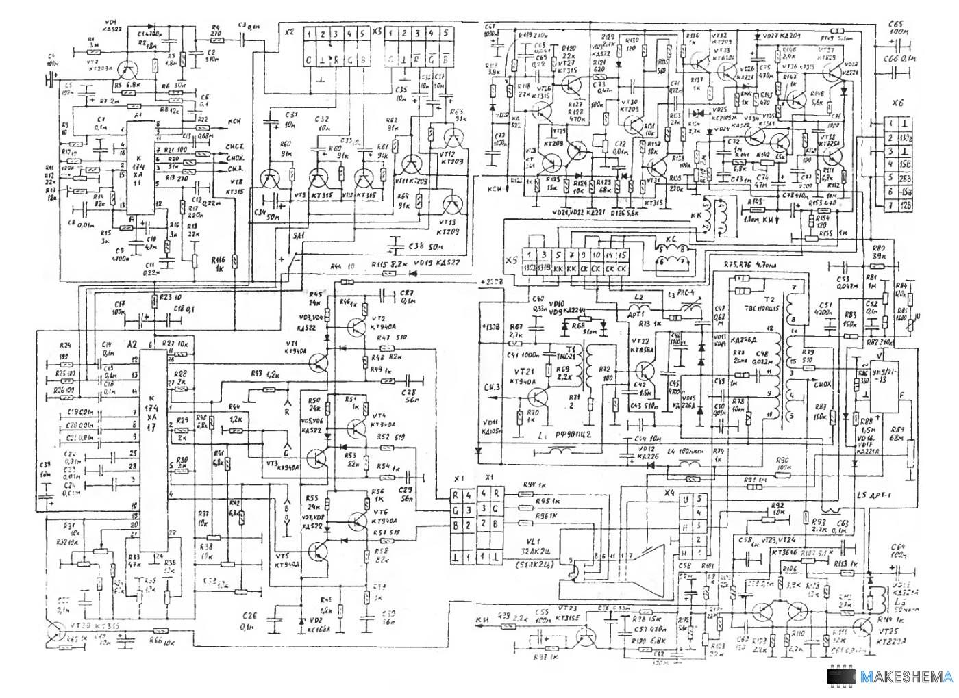 схема укв чм приемник на кха060