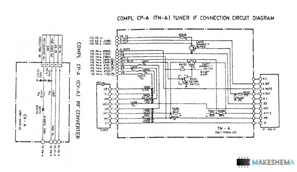 Схема видеомагнитафона Sanyo