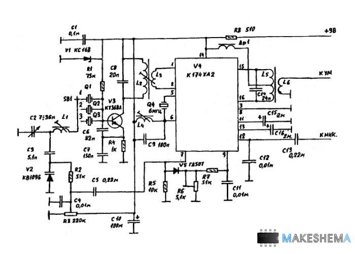 Схема ЧМ модулятора