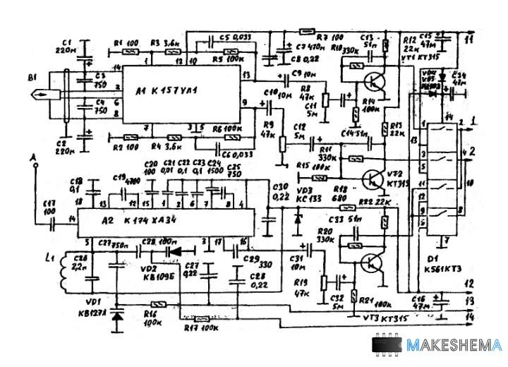 Схема кассетной автомагнитолы
