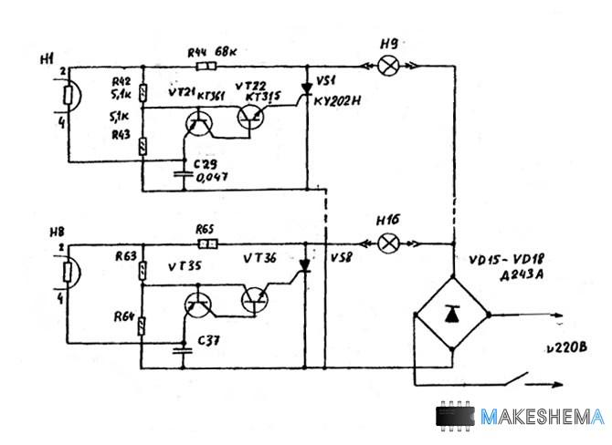 Напряжение ЗЧ с резистора R2