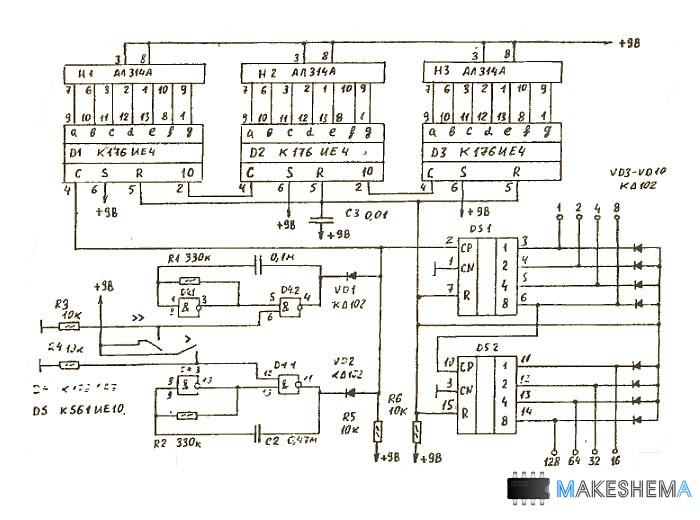 Синтезаторы напряжения схемы