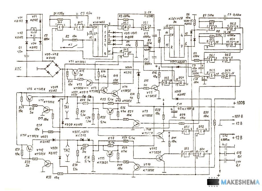 Схема простой Мини-атс