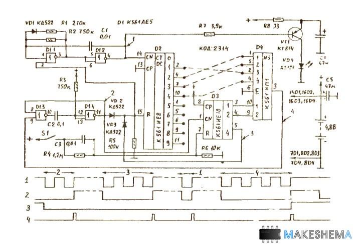 Схема кодирующего устройства