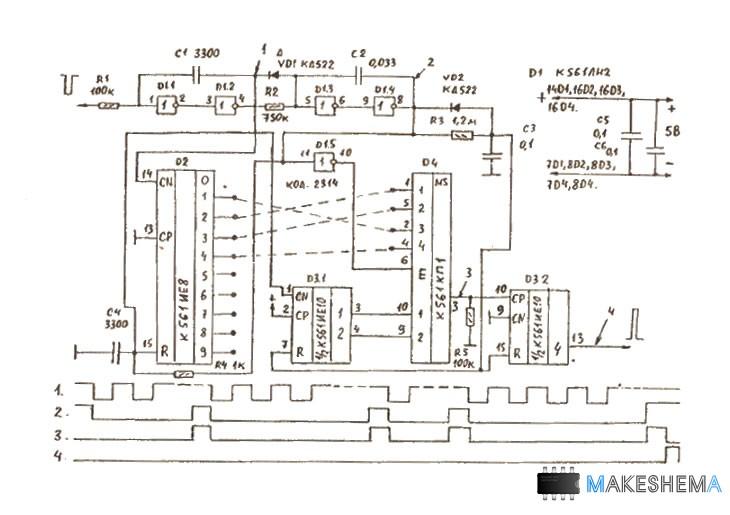Схема декодера на рисунке 2.