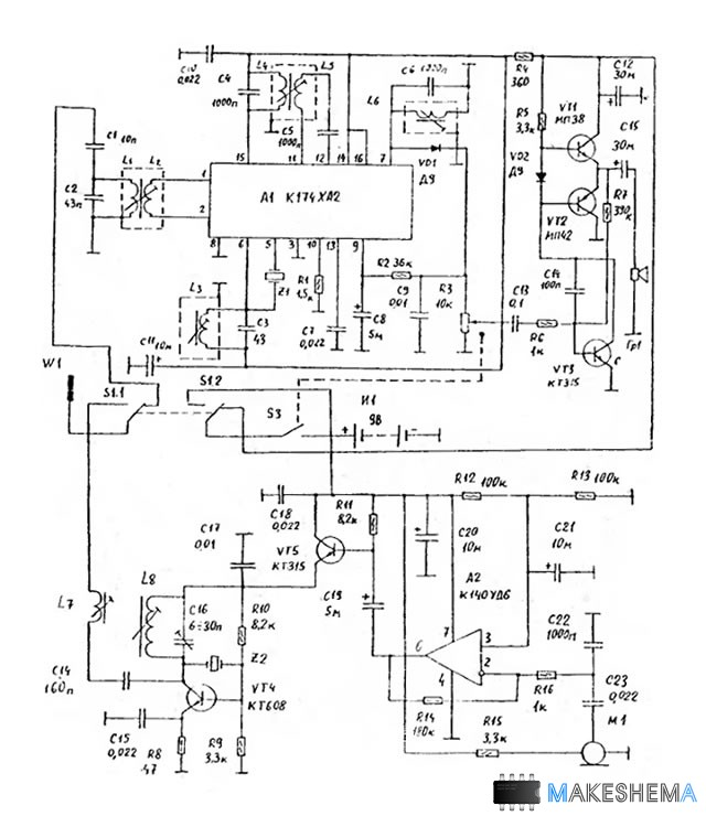 Схема радиостанции 27 МГц